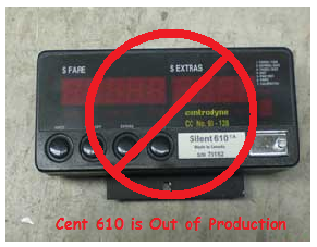 Cent610OutOfProd centrodyne silent 610 taximeter for taxi cabs  at n-0.co
