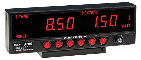 Centrodyne S700 Meter centrodyne silent 610 taximeter for taxi cabs  at n-0.co
